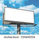 Blank Billboard Against Bright...