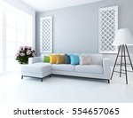 white room with a sofa. living... | Shutterstock . vector #554657065