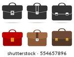 briefcase  set of briefcase ... | Shutterstock .eps vector #554657896