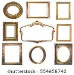 antique golden frame isolated... | Shutterstock . vector #554658742