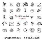 hand drawn sketch web icon set  ... | Shutterstock .eps vector #554663536