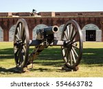 Small photo of Cannon at American Civil War Fort Pulaski