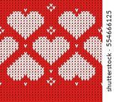embroidered heart pattern....   Shutterstock .eps vector #554666125