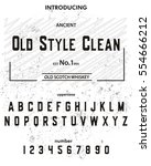 typeface. label. old style...   Shutterstock .eps vector #554666212