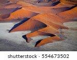 sossusvlei in namib desert  ... | Shutterstock . vector #554673502