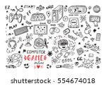 gadget icons vector set. hand...