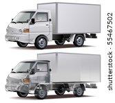 vector delivery   cargo truck ... | Shutterstock .eps vector #55467502