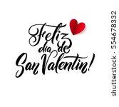 happy valentines day. spanish... | Shutterstock .eps vector #554678332