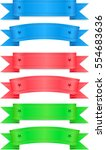 set of three different ribbon. | Shutterstock .eps vector #554683636