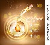 collagen serum background... | Shutterstock .eps vector #554689915