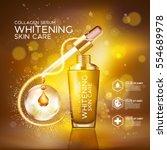collagen serum background...   Shutterstock .eps vector #554689978