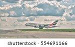 prague   may 5  2016  emirates... | Shutterstock . vector #554691166