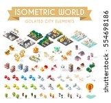 isometric world on white...   Shutterstock .eps vector #554698186