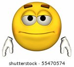 single 3d emoticon isolated on... | Shutterstock . vector #55470574