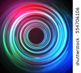 techno geometric vector curve... | Shutterstock .eps vector #554706106