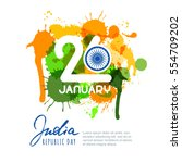 26 of january  india republic... | Shutterstock .eps vector #554709202