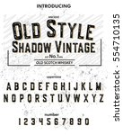 typeface. label. old style... | Shutterstock .eps vector #554710135