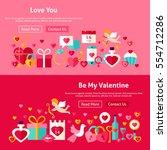 valentine day website banners....   Shutterstock .eps vector #554712286