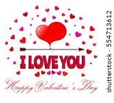 i love you  card  happy... | Shutterstock .eps vector #554713612