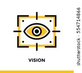 linear vision icon for startup