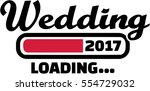wedding loading 2017 | Shutterstock .eps vector #554729032
