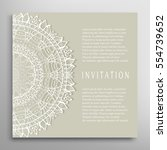 invitation or card template... | Shutterstock .eps vector #554739652