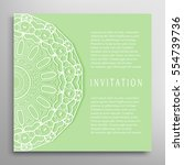 invitation or card template... | Shutterstock .eps vector #554739736
