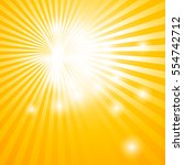 abstract background with sun... | Shutterstock .eps vector #554742712