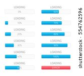 loading bars elements set.... | Shutterstock .eps vector #554762596