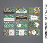 set of vector design templates. ... | Shutterstock .eps vector #554763712
