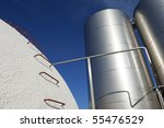 stainless steel and concrete... | Shutterstock . vector #55476529