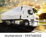 truck transport. mixed media | Shutterstock . vector #554768332