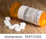 oxycodone is the generic name... | Shutterstock . vector #554771332