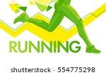 vector legs running lines... | Shutterstock .eps vector #554775298