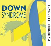 down syndrome illustration ... | Shutterstock .eps vector #554776345