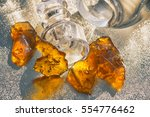 pieces of cannabis oil... | Shutterstock . vector #554776462