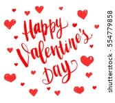 happy valentine's day. vector... | Shutterstock .eps vector #554779858