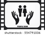 man and woman  hands icon... | Shutterstock .eps vector #554791036