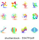 different modern icons for your ... | Shutterstock .eps vector #55479169