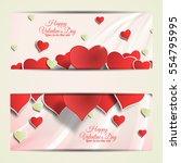 vector happy valentine's day... | Shutterstock .eps vector #554795995