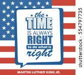 martin luther king jr. day... | Shutterstock .eps vector #554797735