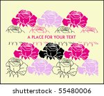 vector illustration   greeting... | Shutterstock .eps vector #55480006