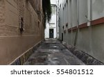 view of a pathway on a empty... | Shutterstock . vector #554801512