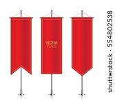 red elegant vertical flag... | Shutterstock .eps vector #554802538