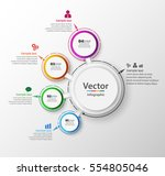 abstract infographics number... | Shutterstock .eps vector #554805046