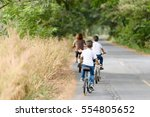 young asian thai boy riding... | Shutterstock . vector #554805652