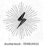 vintage thunder symbol with... | Shutterstock .eps vector #554814412
