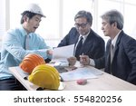 engineering man and senior... | Shutterstock . vector #554820256