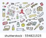 healthcare and medicine vector... | Shutterstock .eps vector #554821525