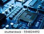 chip computer server repair...   Shutterstock . vector #554824492